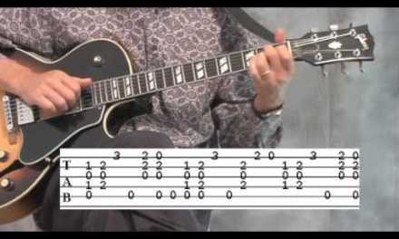blues guitar lesson solo – 1/3
