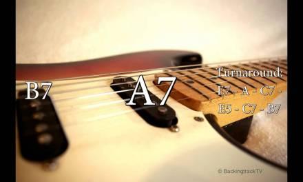 Blues Shuffle Guitar Backing Track in E