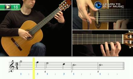 Ex016 How to Play Classical Guitar for Kids – Classical Guitar Lessons for Kids Book 1