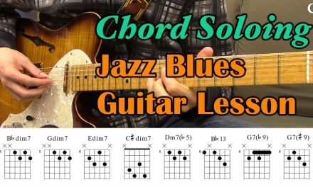Jazz Blues Chord Soloing (With Chord Boxes) – Guitar Lesson – Camilo James