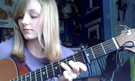 """How to play """"Kiss Me"""" (Sixpence None the Richer) acoustic guitar lesson *request*"""