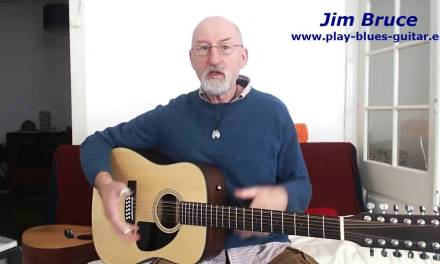 Acoustic Blues Guitar Lesson Tablature