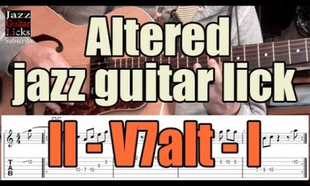 II-V-I Altered jazz guitar lick for beginners | Lesson with tabs