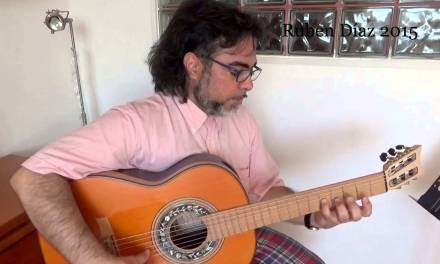 How to combine scales in modern flamenco (diminished/major Ionic) Guitar lesson Ruben Diaz CFG Spain