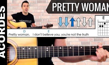 Pretty Woman como tocar con guitarra acordes chords guitar lesson