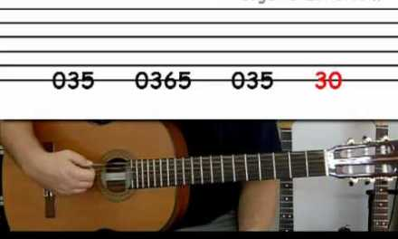 Guitar lesson 2A : Beginner — 'Smoke on the water' on one string