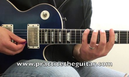 Guitar Lessons-How To Play-String Skipping Major Scales Three Notes Per String-Backing Tracks