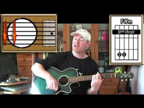 Raindrops Keep Falling On My Head – B J Thomas – Acoustic Guitar Lesson (easy)