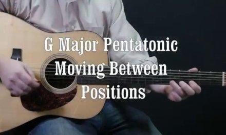 Easy guitar G Major Pentatonic Scale Sliding