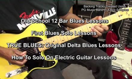 EASY Old School TRUE BLUES GUITAR Tutorial Lesson Series EricBlackmonMusic