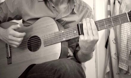 Acoustic slide blues on a 1945 Levin parlor guitar