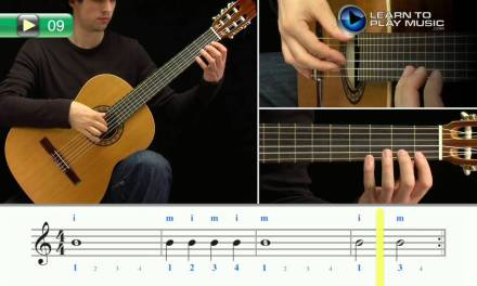 Ex009 How to Play Classical Guitar for Kids – Classical Guitar Lessons for Kids Book 1