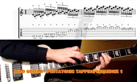 Fast Pentatonic Tapping Run GUITAR LESSON with TAB – Sequence 1