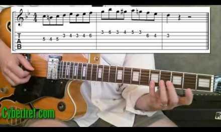 Jazz II V I Guitar Lick in Bb
