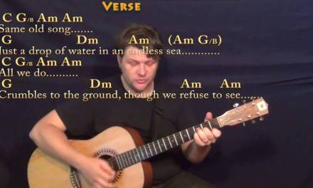 Dust in the Wind (Kansas) Strum Guitar Cover Lesson with Chords/Lyrics