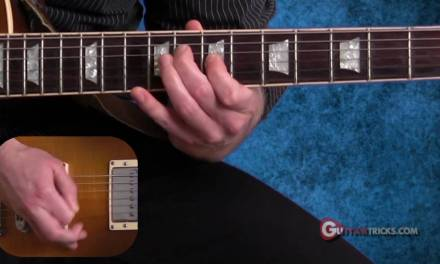 Sweep Picking Lesson  – Easy Guitar Lesson – Guitar Tricks 74