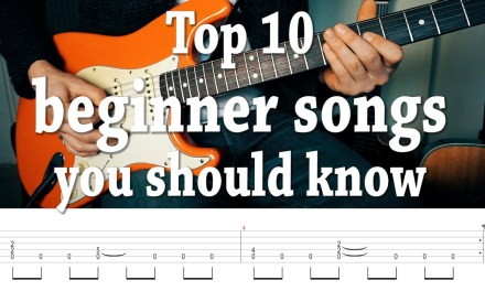 """Top 10 fun, """"easy"""" guitar songs you should know! with TABS"""
