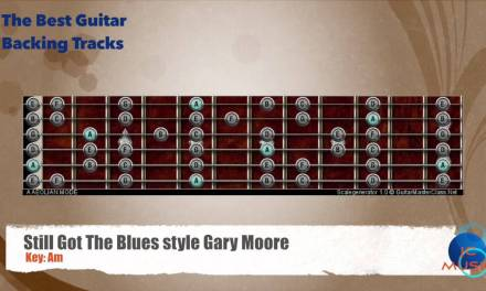 Still Got the Blues Gary Moore Guitar Backing Track guitar map scale