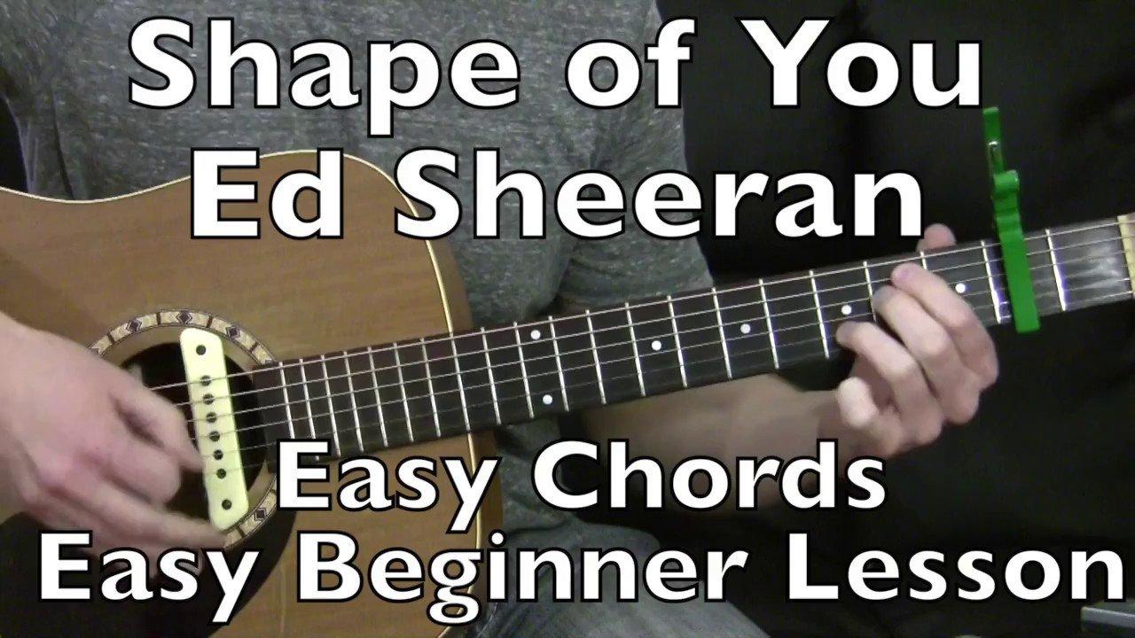 Shape Of You Ed Sheeran No Barre Chords Guitar Lesson The Glog