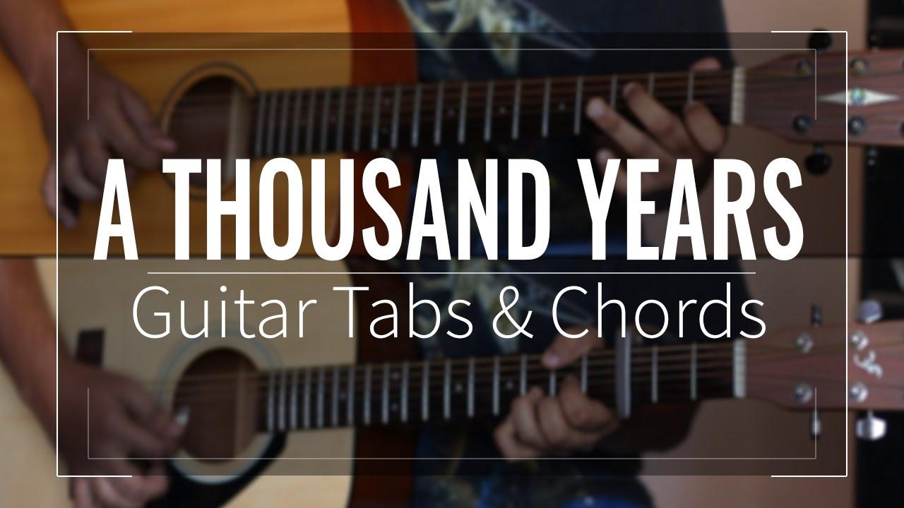 A Thousand Years Christina Perri Guitar Tabs Lead Chords