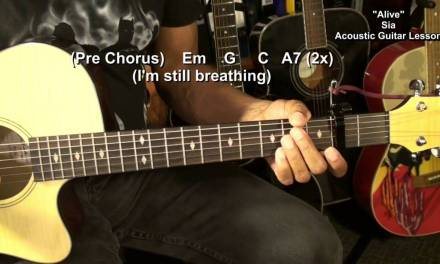 ALIVE Sia How To Play On Acoustic Guitar Lesson Tutorial EricBlackmonMusicHD