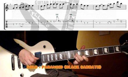 Paranoid GUITAR LESSON with TAB (Solo) – Black Sabbath