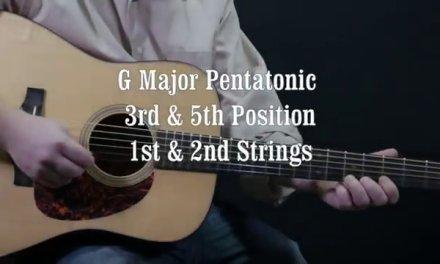 FREE Easy guitar lesson – G Major Pentatonic Scale Sliding