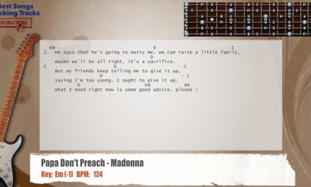 Papa Don't Preach – Madonna Guitar Backing Track with chords and lyrics