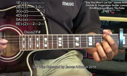 SAY YOU WON'T LET GO James Arthur Easy 2 Minute Guitar Chords & FingerStyle Lesson