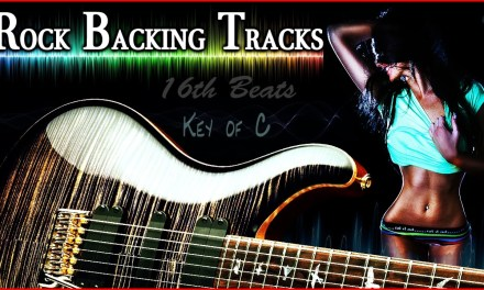FREE Key of C Rock Backing Track Jam Track 4/4 practice electric guitar licks and scales