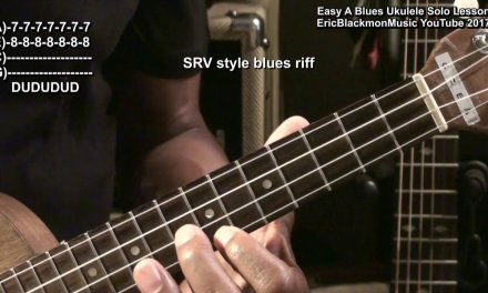 Ukulele Ukulele Blues In A – Am Pentatonic Solo Lesson Tutorial EricBlackmonMusicHD