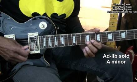 Gonna Fly Now Rocky LIVE Radio Theme Play Along Guitar Lesson Maynard Ferguson