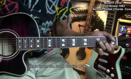 David Bowie MODERN LOVE Guitar Chords Cover EricBlackmonMusicHD YouTube