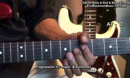 Secret Rock & Roll & Blues Guitar Chords Tutorial EricBlackmonMusicHD YouTube
