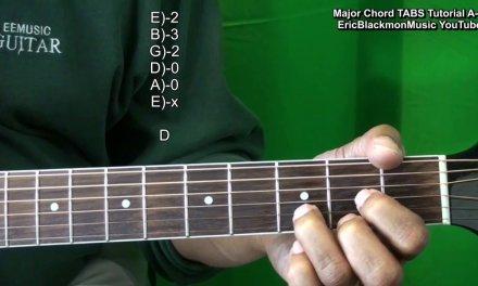How To Play MAJOR GUITAR CHORDS A-G Tutorial EricBlackmonGuitar HD