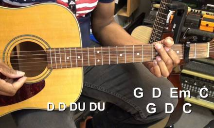 EASY Old Crow Medicine Show WAGON WHEEL Easy Country Guitar Lesson
