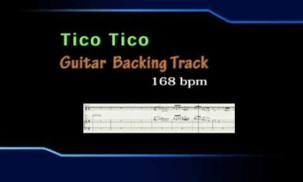 Tico Tico Guitar Backing Track 168-bpm