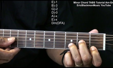 How To Play MINOR CHORDS On Guitar Am Bm Cm Dm Em Fm Gm  EricBlackmonGuitar HD