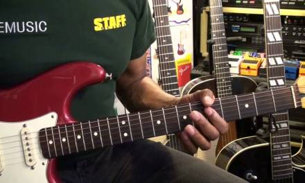 Quik Licks #4B B. B. King Style Slow Blues Riff Lesson A Major EricBlackmonMusicHD