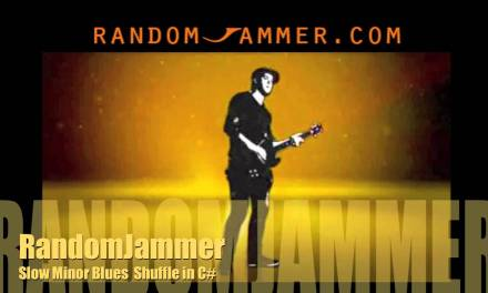 Slow Minor Blues Shuffle Backing Track in C#