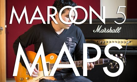Maroon 5 – maps | electric guitar cover (instrumental & backing track)