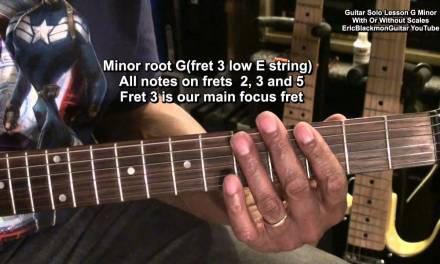 How To Play An Electric Guitar Solo In G Minor Or Bb Major Tutorial Lesson
