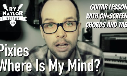 Where Is My Mind Guitar Lesson (Pixies) with Guitar Solos, Chords and Tab