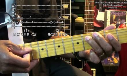 Prince Inspired Funk Electric Guitar Riff #3 Lesson Tutorial FunkGuitarGuru Funk