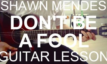 Shawn Mendes: Don't Be A Fool (GUITAR LESSON/ TUTORIAL +CHORDS)