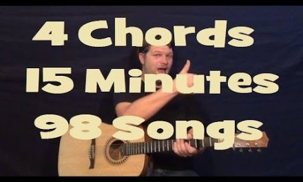 4 Chords, 15 Minutes, 98 Songs Easy Strum Chord Beginner Guitar Lesson How to Play Tutorial