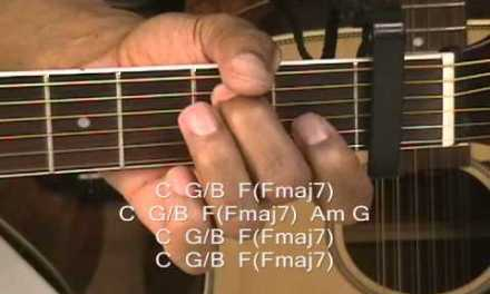 How To Play Maroon 5 Love Somebody on Guitar Lesson Capo Fret 1 Adam Levine