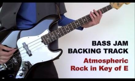 Guitar & Bass Jam Backing Track – Atmospheric Rock in E (96 bpm)