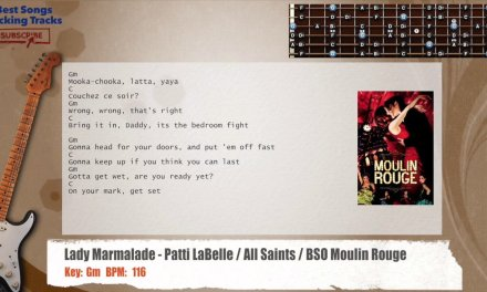 Lady Marmalade – Patti LaBelle / All Saints / BSO Moulin Rouge Guitar Backing Track
