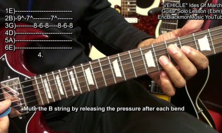 How To Play VEHICLE Electric Guitar Solo Ides Of March Jim Peterik EricBlackmonGuitar HD